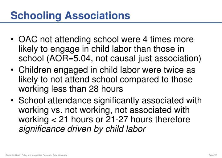 Schooling Associations