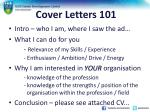 cover letters 101