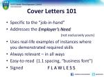 cover letters 1011