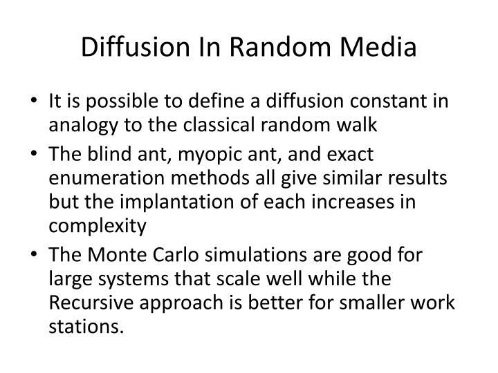 Diffusion In Random Media