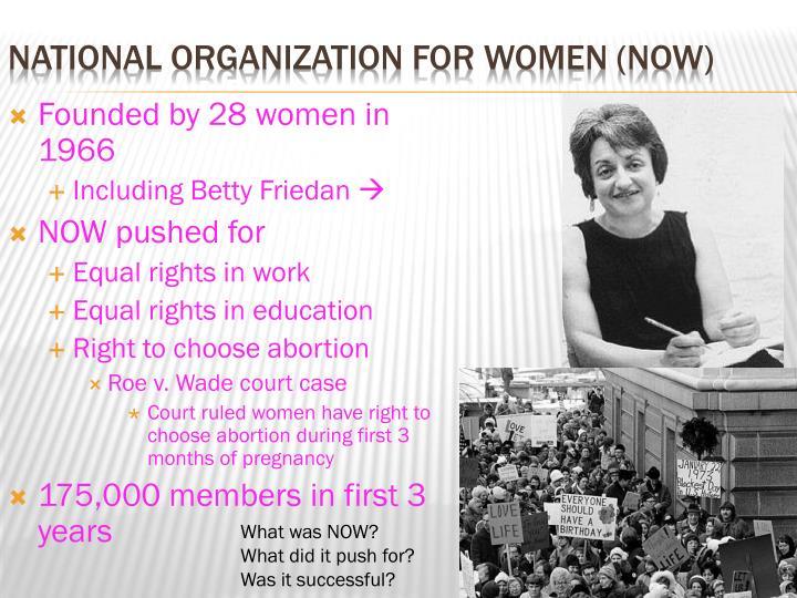 Founded by 28 women in 1966