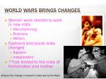world wars brings changes