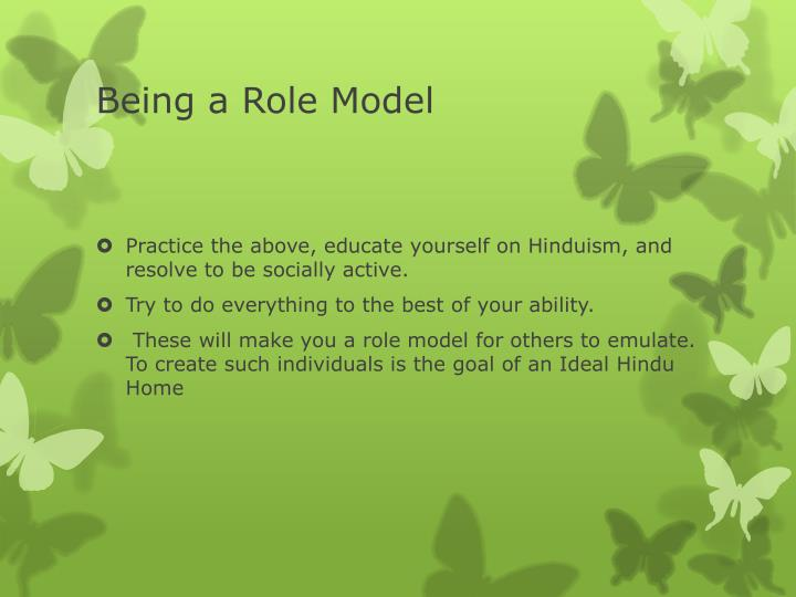 Being a Role Model