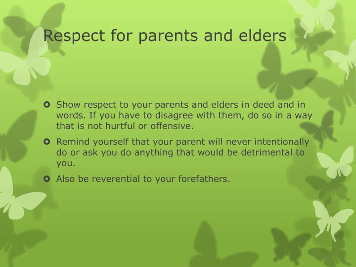 Respect for parents and