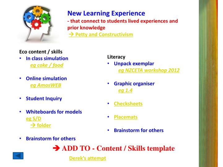 New Learning Experience