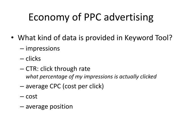 Economy of PPC advertising