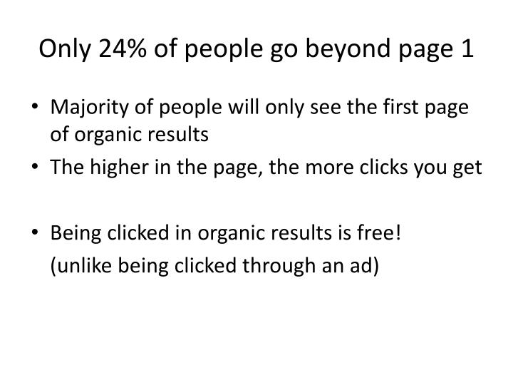 Only 24% of people go beyond page 1