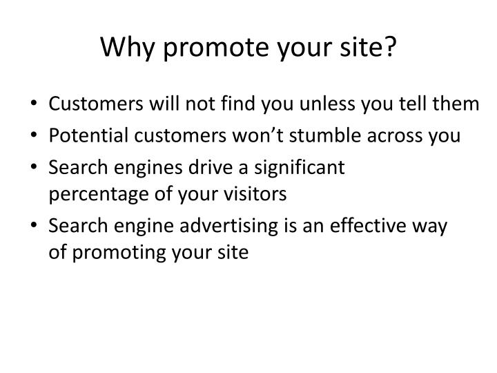 Why promote your site?