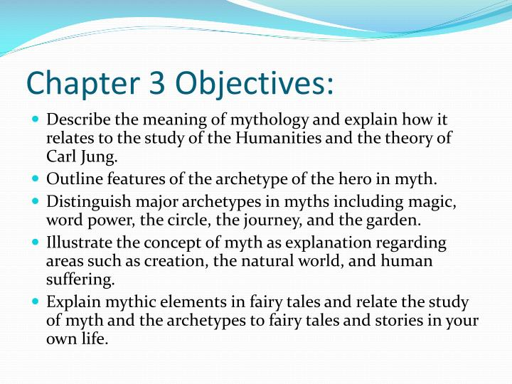 Chapter 3 Objectives: