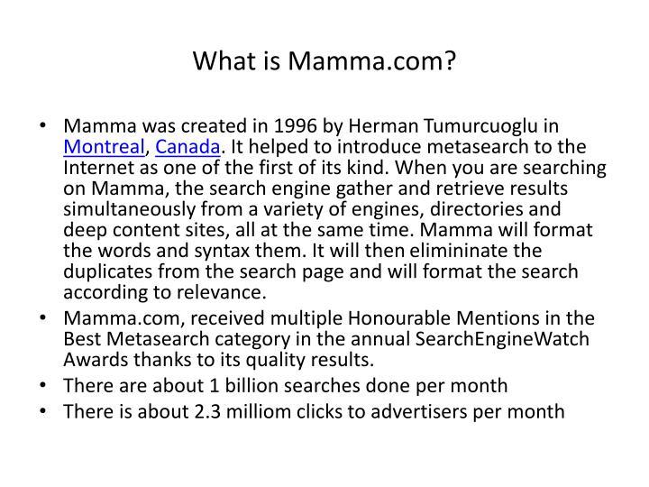What is Mamma.com?
