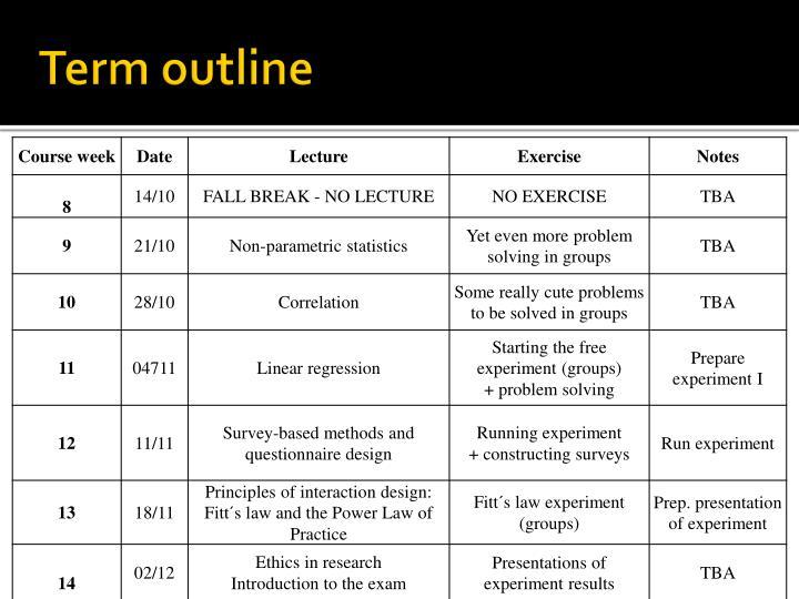 Term outline