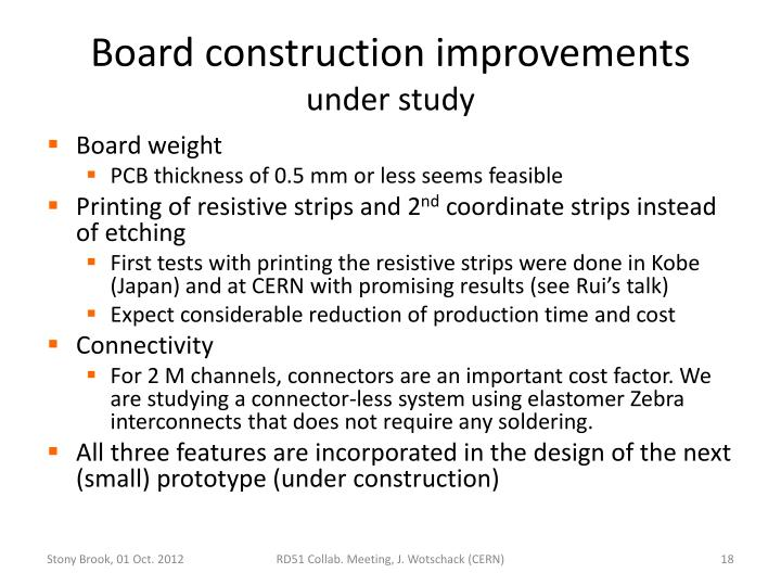 Board construction improvements