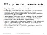 pcb strip precision measurements