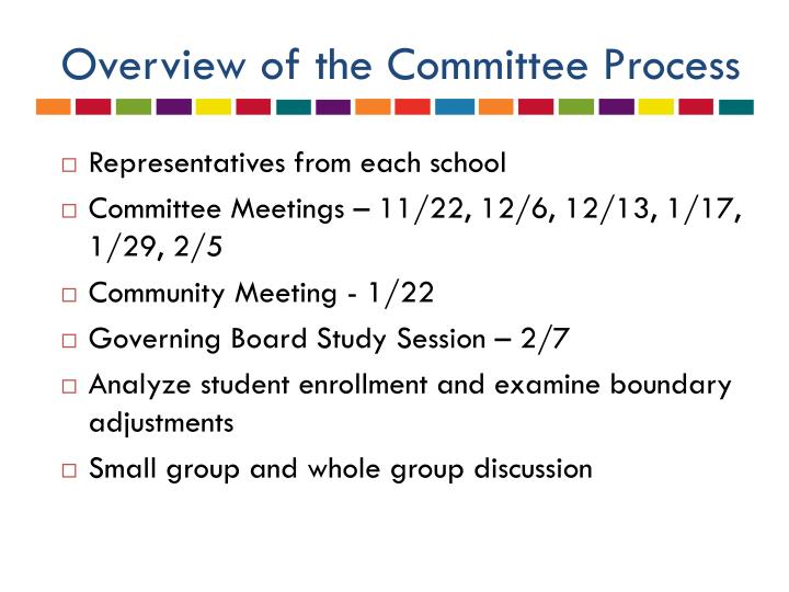 Overview of the Committee Process