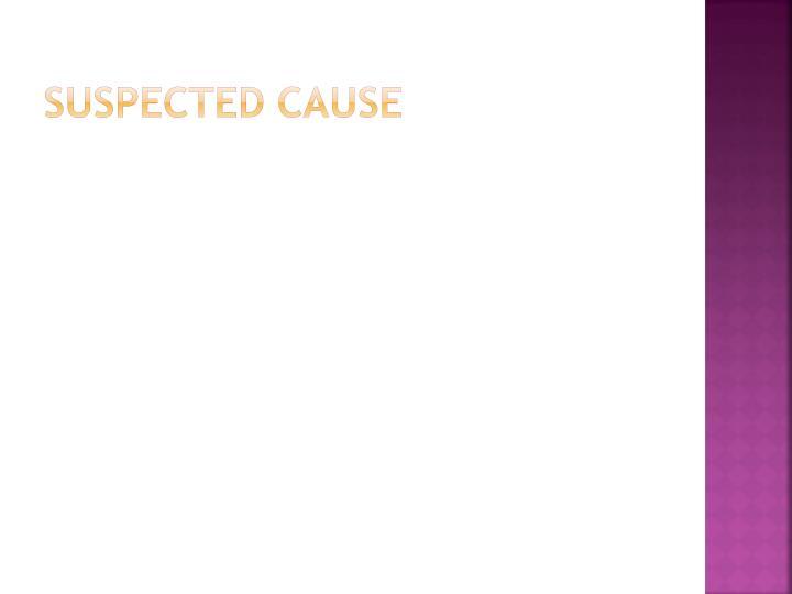 Suspected cause