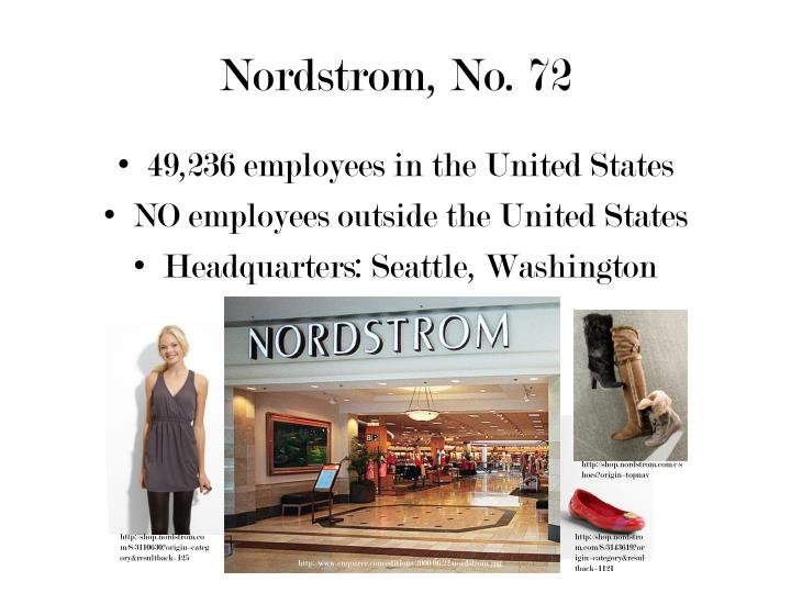 Nordstrom, No. 72