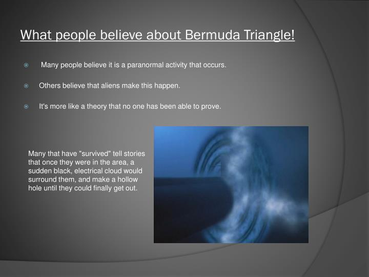 What people believe about Bermuda Triangle!