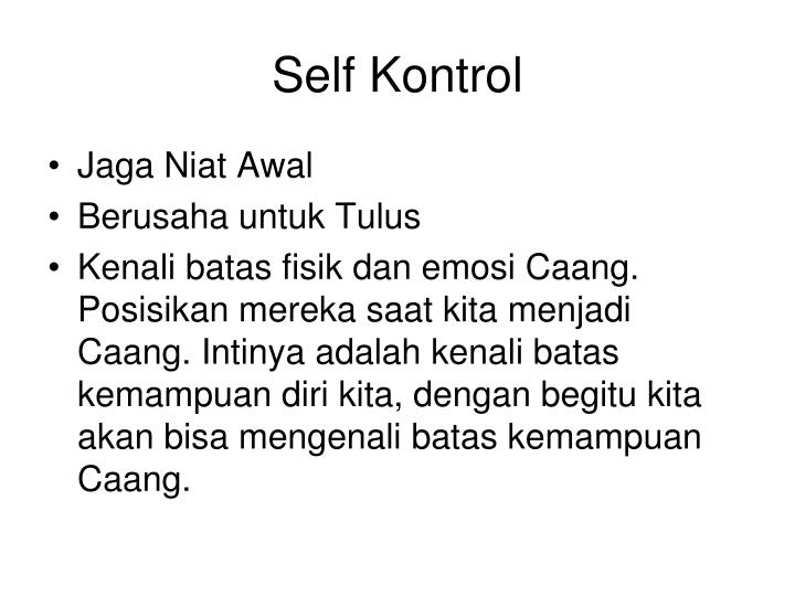 Self Kontrol