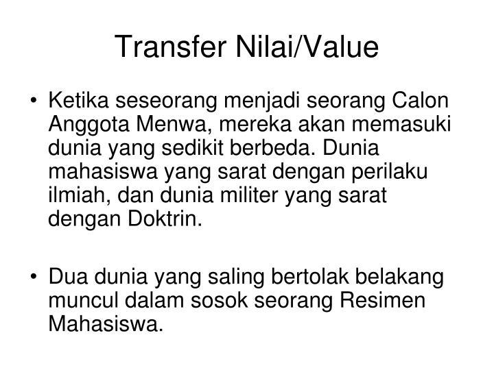 Transfer Nilai/Value