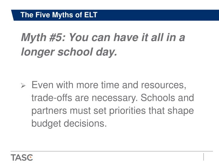 The Five Myths of ELT