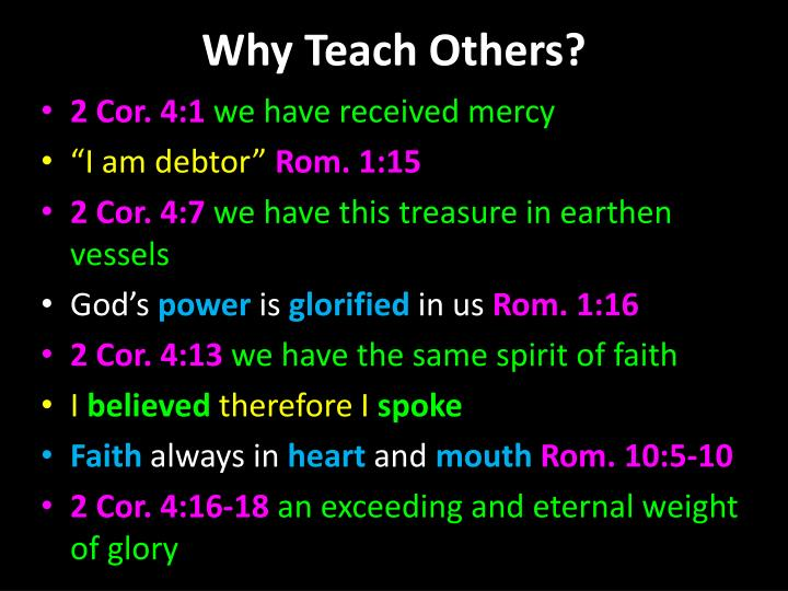 Why Teach Others?