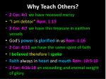 why teach others1