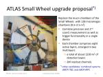 atlas small wheel upgrade proposal