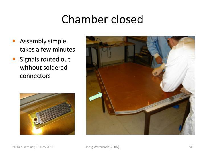 Chamber closed
