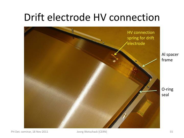Drift electrode HV connection