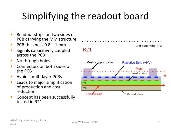 Simplifying the readout board