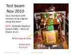 test beam nov 2010