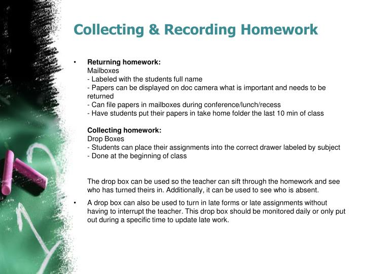 Collecting & Recording Homework