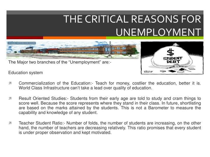 The critical reasons for unemployment
