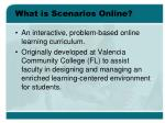 what is scenarios online