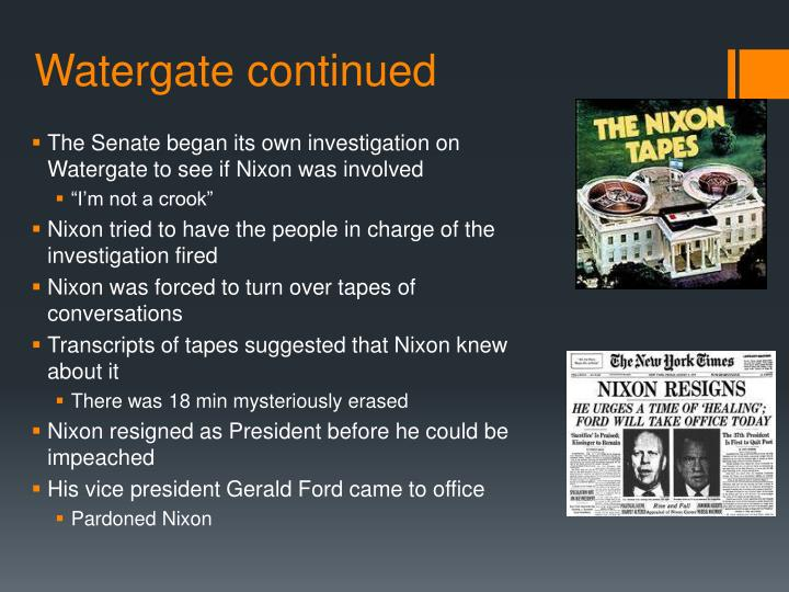 Watergate continued