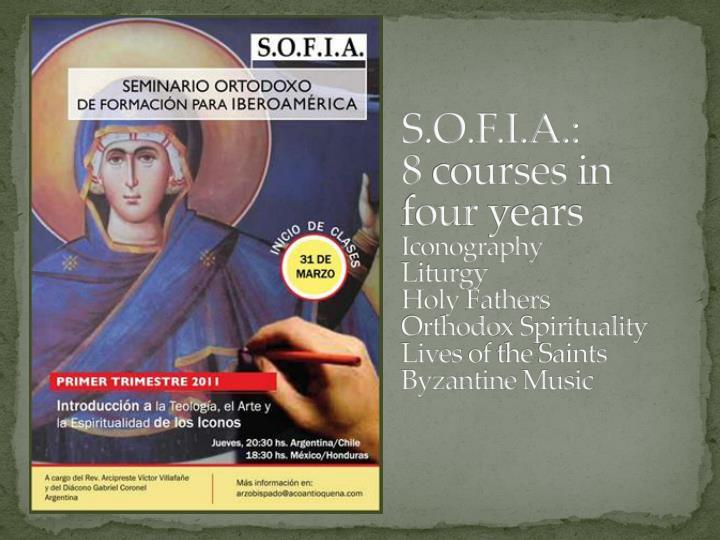 S.O.F.I.A.: