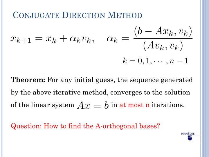 Conjugate Direction Method