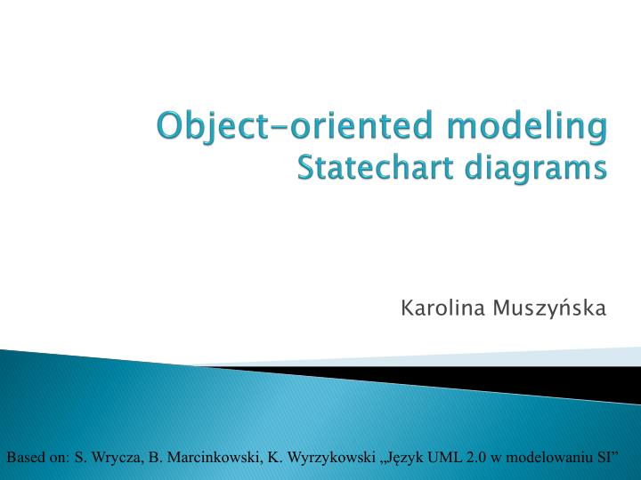 object oriented modeling statechart diagrams