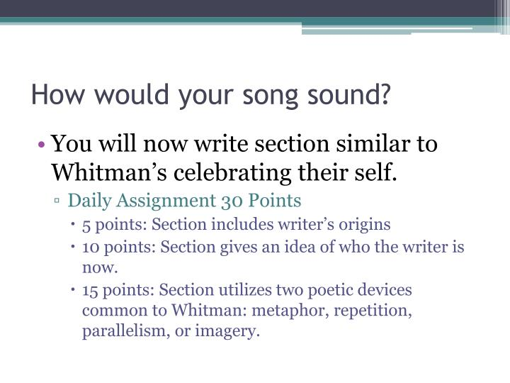 How would your song sound?