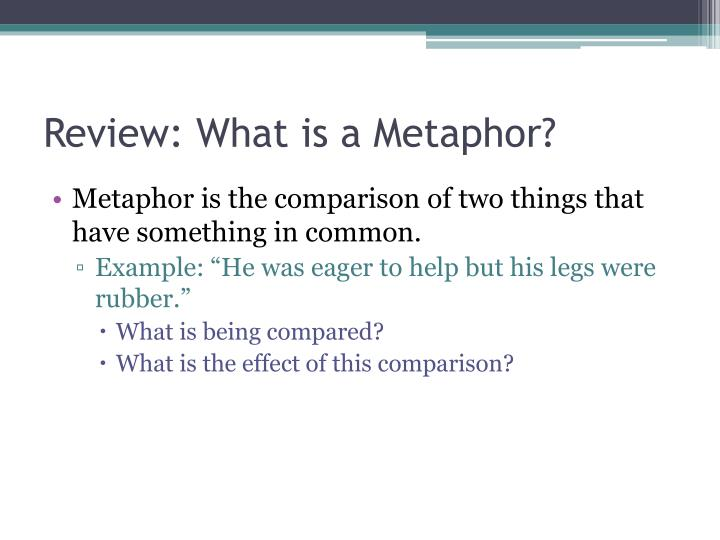 Review: What is a Metaphor?