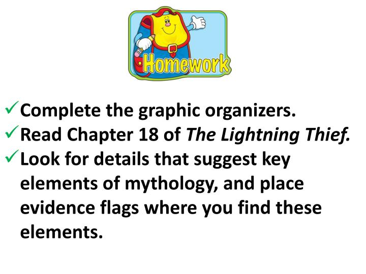 Complete the graphic organizers.