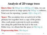 analysis of 2d range trees