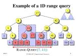 example of a 1d range query