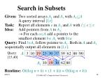 search in subsets