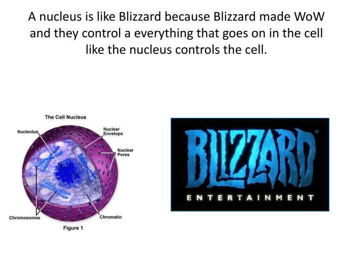 A nucleus is like Blizzard because Blizzard made