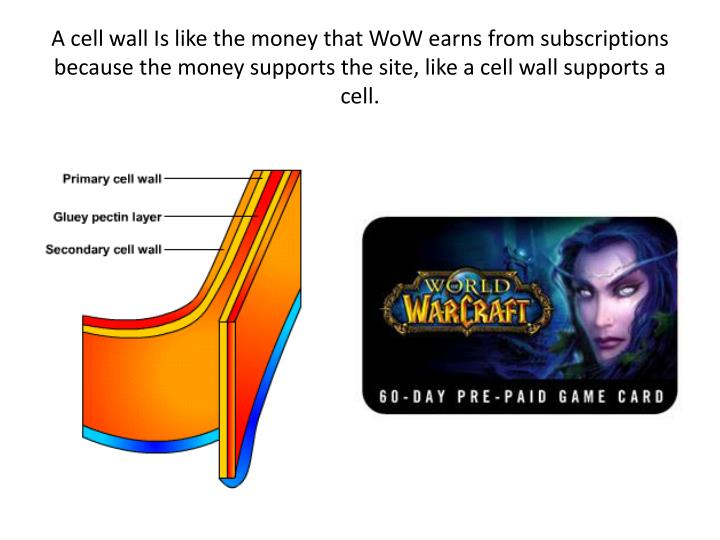 A cell wall Is like the money that