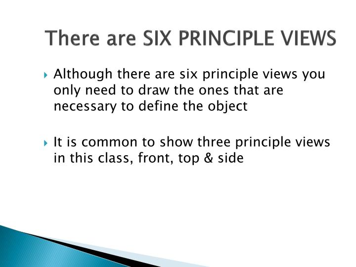 There are SIX PRINCIPLE VIEWS