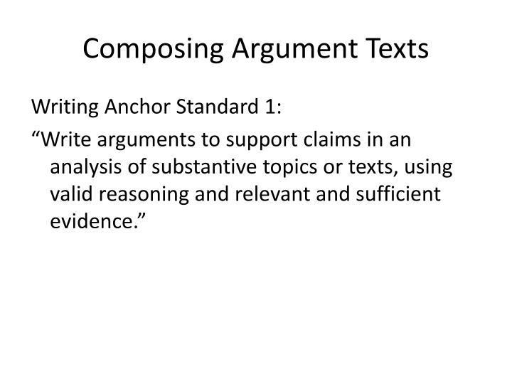 Composing Argument Texts