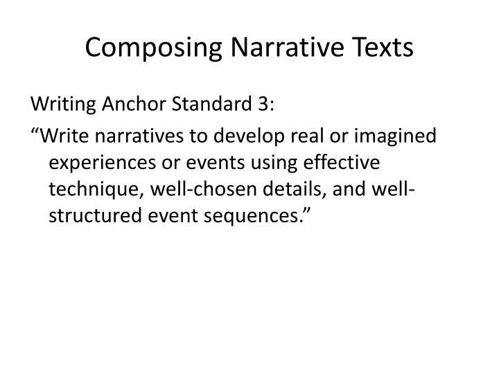 Composing Narrative Texts