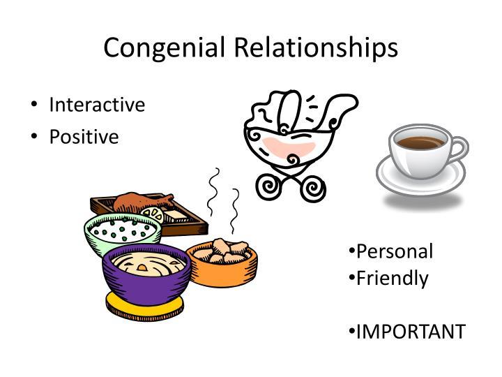 Congenial Relationships